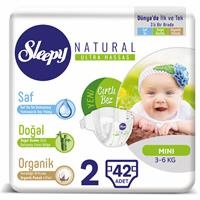 Natural Baby Diapers Size 2 Mini 3-6 kg 42 pcs
