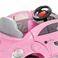 Turtle Battery-Powered Car 12 V Pink