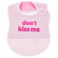 Don't Kiss Me Slogan Lux Feeding Baby Apron/Bib