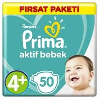 Bebek Bezi Aktif Bebek 4+ Beden Maxi Plus Fırsat Paketi 10-15 kg 50 Adet
