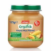 Organik Kayısı Muz Kavanoz Maması 125 g