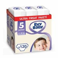 Bebek Bezi 5 Beden Junior Ultra Fırsat Paketi 120 Adet