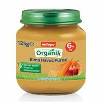 Organik Elmalı Havuçlu Kavanoz Maması 125 gr