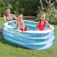 Transparent Oval Pool 163X107x46 cm