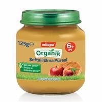 Organik Şeftali Elma Kavanoz Maması 125 g