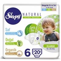 Natural Baby Diapers Size 6 Extra Large 15-25 kg 20 pcs