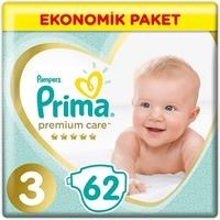 Bebek Bezi Premium Care 3 Beden Midi Ekonomik Paket 6-10 kg 62 Adet