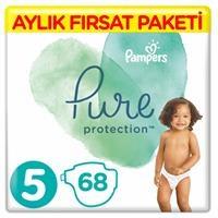Pure Bebek Bezi 5 Beden Junior Aylık Fırsat Paketi 11+ kg 68 Adet