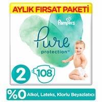 Pure Bebek Bezi 2 Beden Mini Aylık Fırsat Paketi 4-8 kg 108 Adet