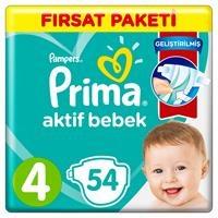 Bebek Bezi Aktif Bebek 4 Beden Maxi Fırsat Paketi 9-14 kg 54 Adet
