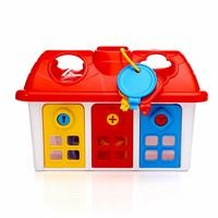 Shape Sorter Happy House with Lockable Doors 1 Years+
