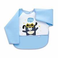 Happy Poli Long Sleeve Tarpaulin Baby Feeding Apron/Bib