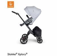 V6 Baby Stroller Black Leather Handle