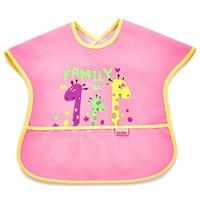 Happy Family Printed Poli Large Tarpaulin Baby Feeding Apron/Bib