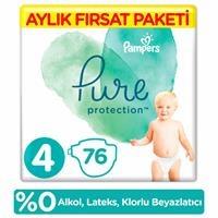 Pure Bebek Bezi 4 Beden Maxi Aylık Fırsat Paketi 9-14 kg 76 Adet