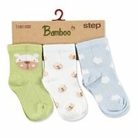 3 Pack Baby Socks Clouds Bear