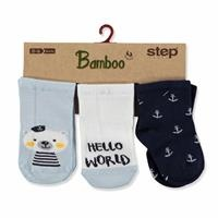 3 Pack Baby Socks Hello World