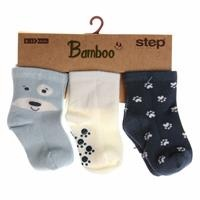 3 Pack Baby Socks Six Printed Paw Puppy