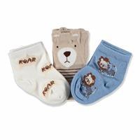 3 Pack Baby Socks 3D Bear