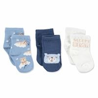 3 Pack Baby Socks Sleepy