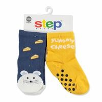 2 Pack Baby Socks Six Printed Mouse Cheese