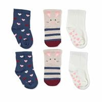 3 Pack Baby Socks Six Printed Rabbit