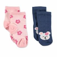 2 Pack Baby Socks Koala Flower