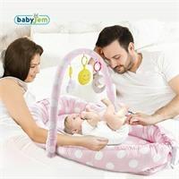 Oyuncaklı Anne & Baba Yanı Yatağı Gri