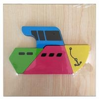 Wooden Baby Vehicles Mini Puzzle