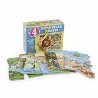 Super Colorful Animals Puzzle 4in1