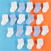 Baby Socks, Blue, 1 Years - 18 pcs
