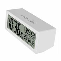 Digital Table Clock Thermometer White