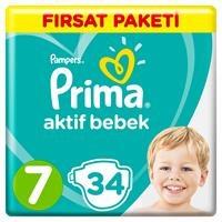 Bebek Bezi Aktif Bebek 7 Beden XX Large Fırsat Paketi 15+kg 34 Adet