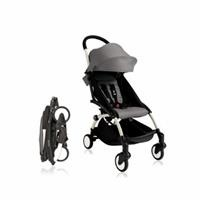 Baby Stroller White - Grey