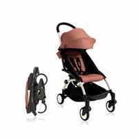 Baby Stroller White - Rose Pink