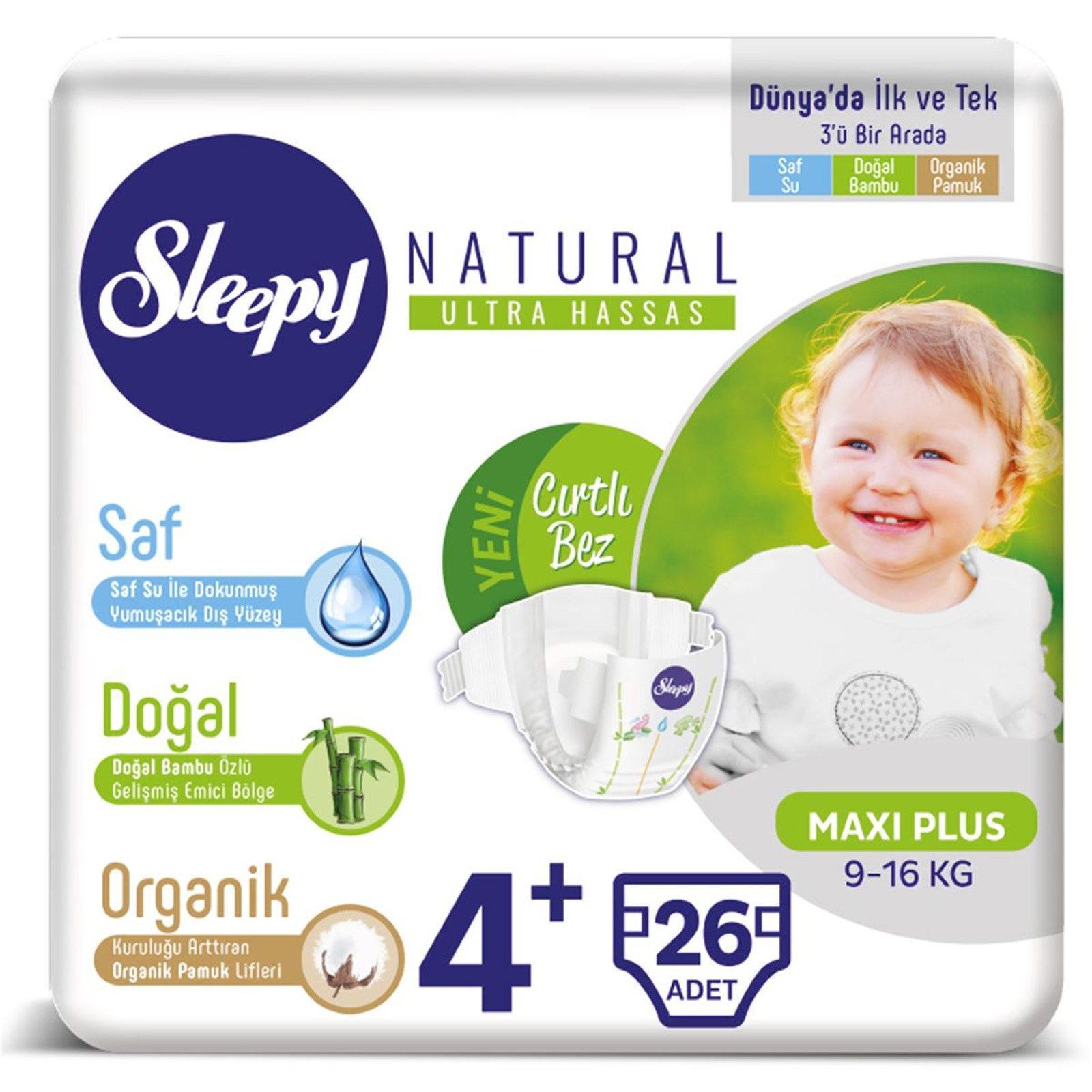 Sleepy Baby Diapers Sensitive Size 4 Maxi Plus 9 16 Kg 26 Pcs Chicco Wipes