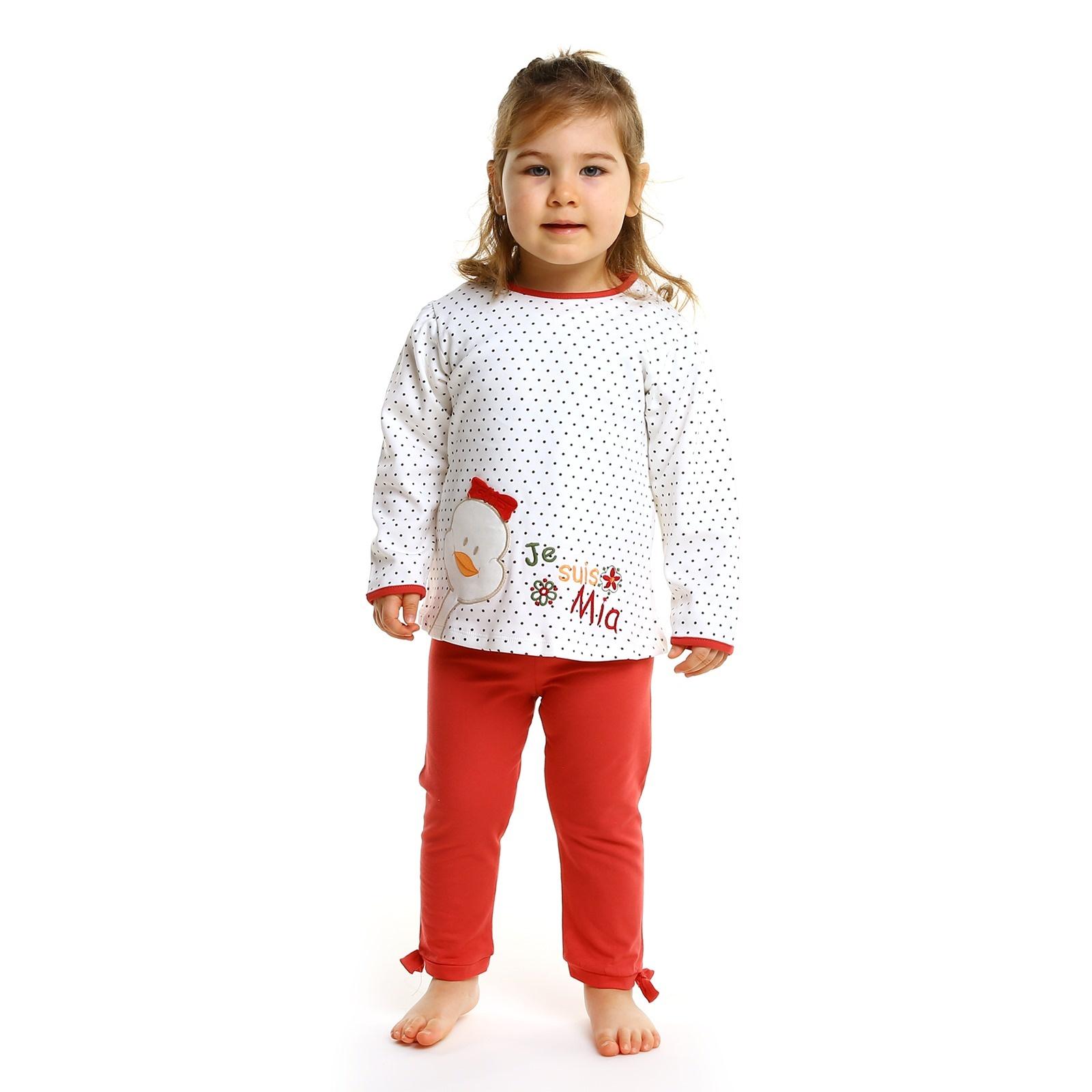 HelloBaby Ördek Tema Pijama Takımı - Kırmızı Ürün Resmi