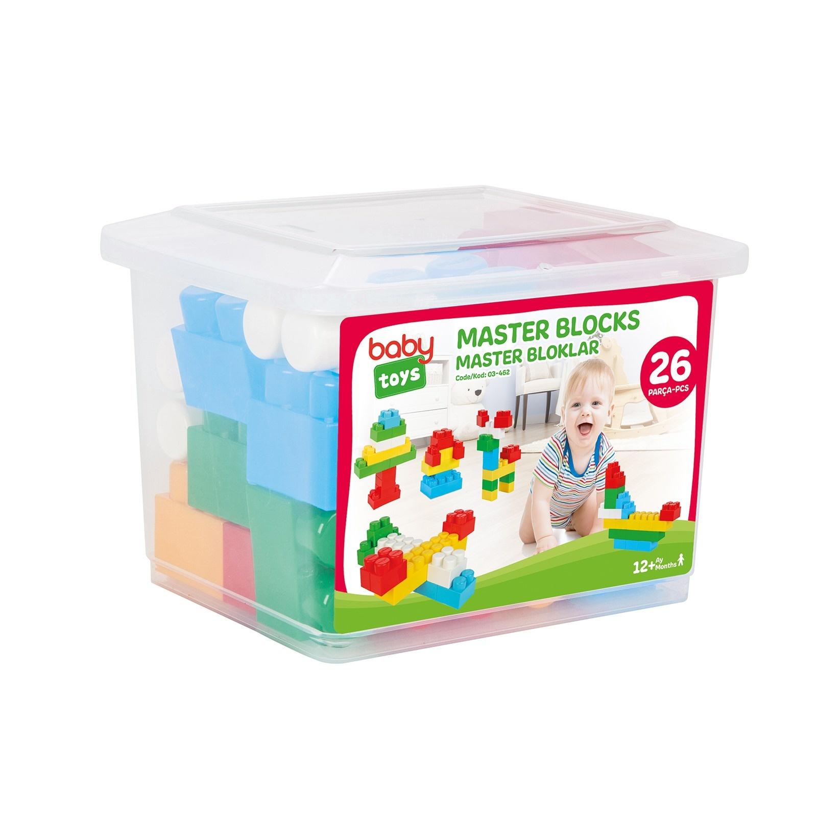 Baby Blocks Toys : Baby toys master blocks pieces
