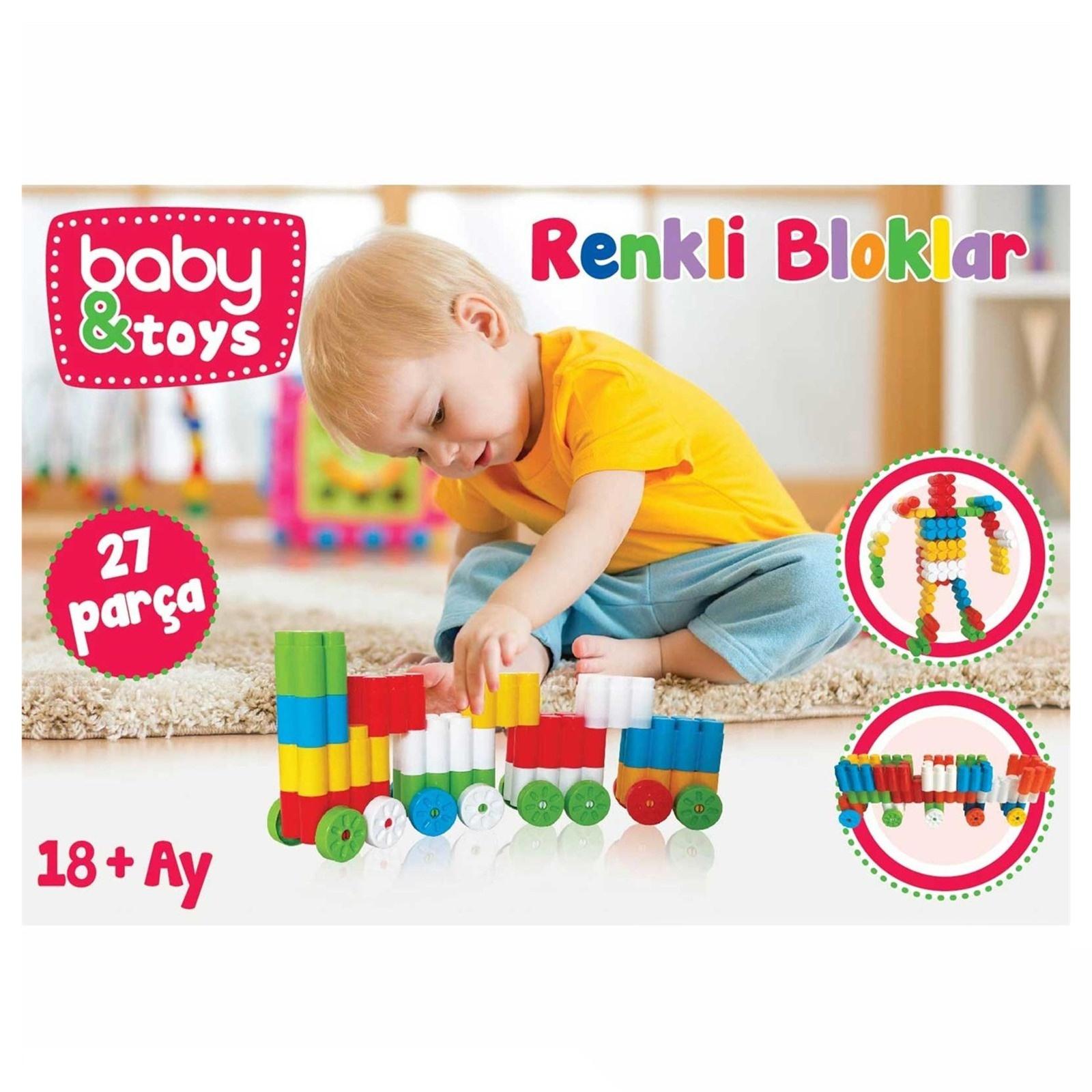 baby&toys Renkli Bloklar 27 Parça Ürün Resmi