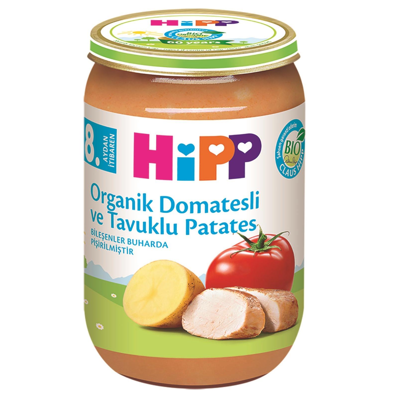 Hipp Organik Domatesli ve Tavuklu Patates 220 gr