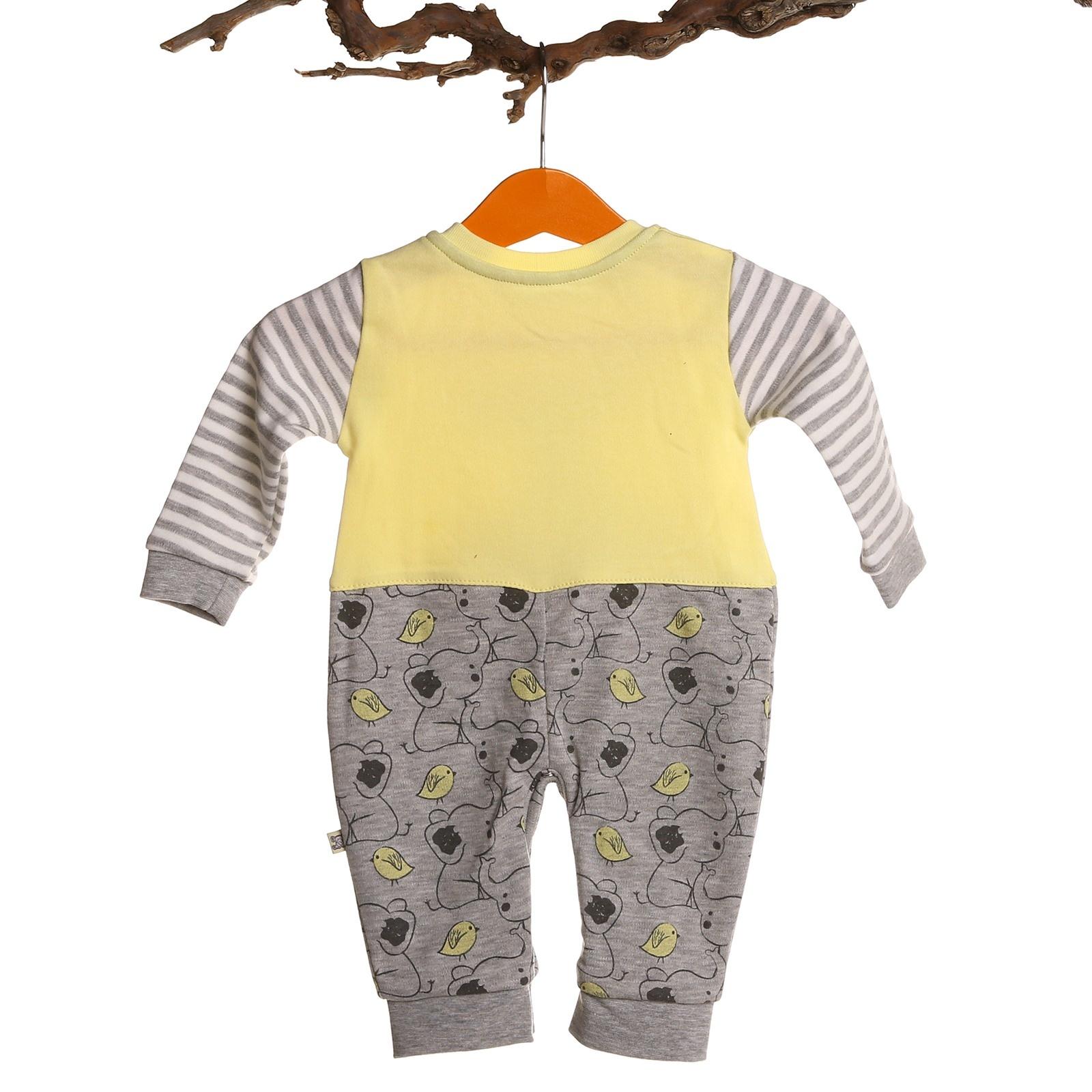 db2a4de550a Mymio Elephant Printed Baby Boy Footless Romper