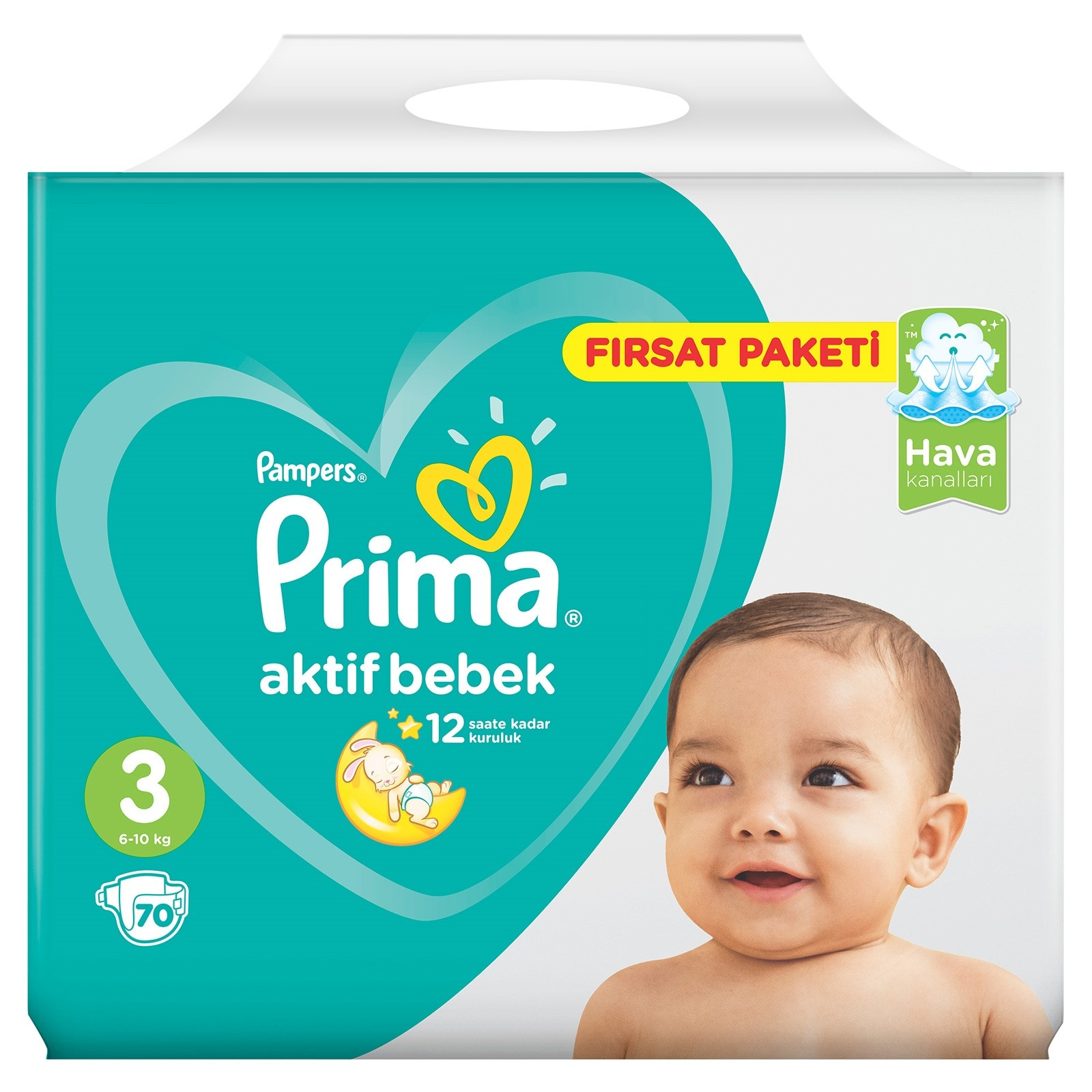Prima Active Baby Diapers Size 3 Midi Advantage Pack 6 10 Kg 70 Pcs