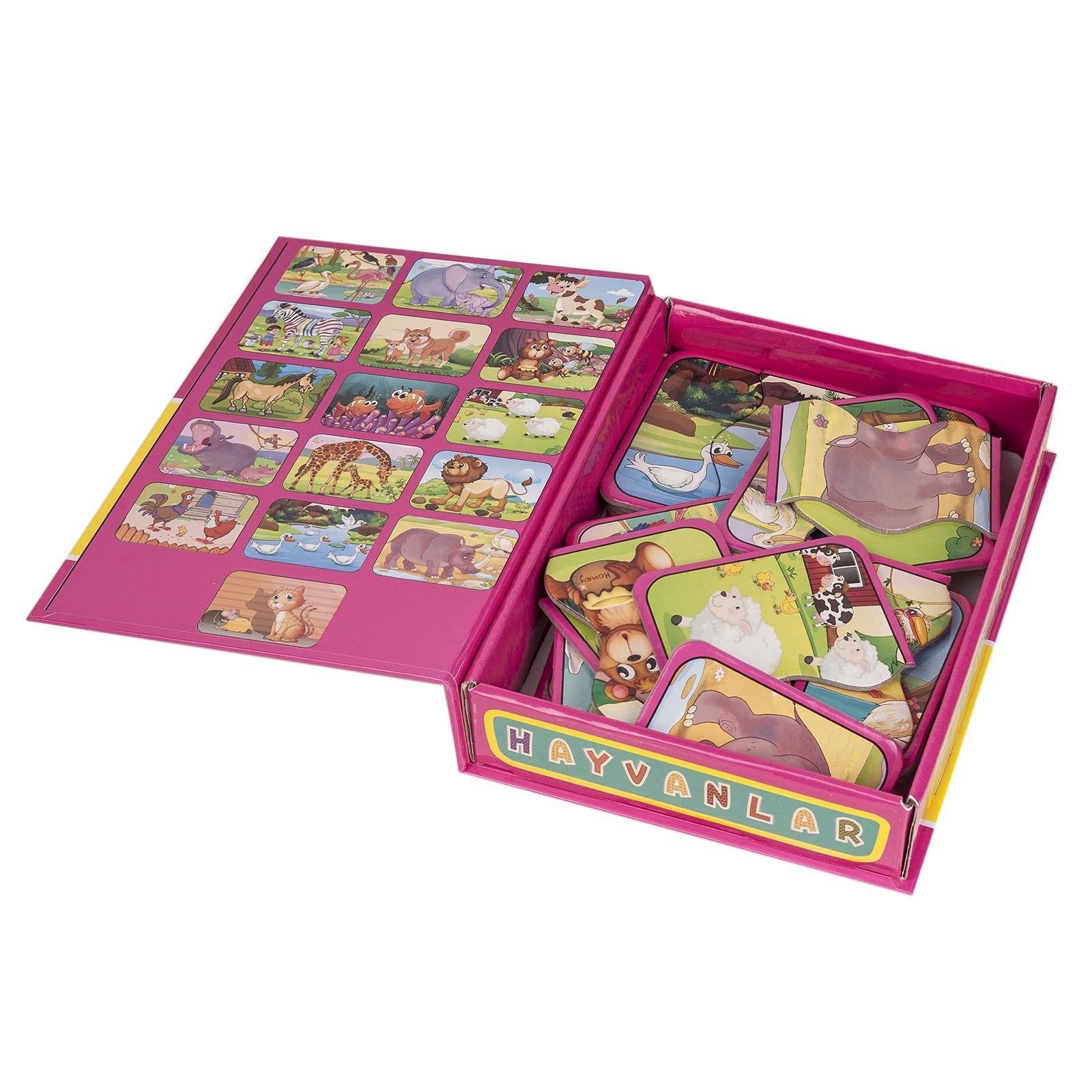 Diy Toy Okul Oncesi Hayvanlar 2 Ve 3 Parcali Tamamlama Kartlari